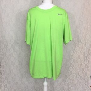 Men's Nike highlighter yellow basic Dry-fit tee